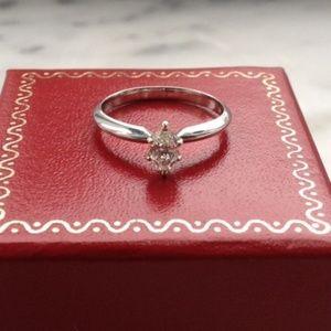 Beautiful Genuine Marquise Cut Diamond Ring